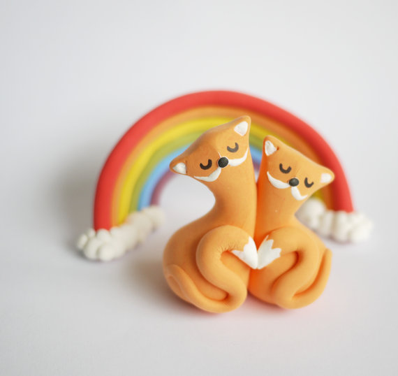 Foxes Cake Topper