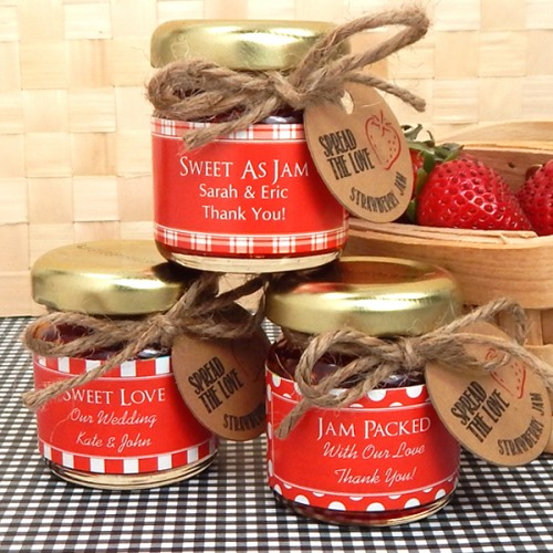 wedding favor Beau-Coup Personalized Bridal Jam Favor