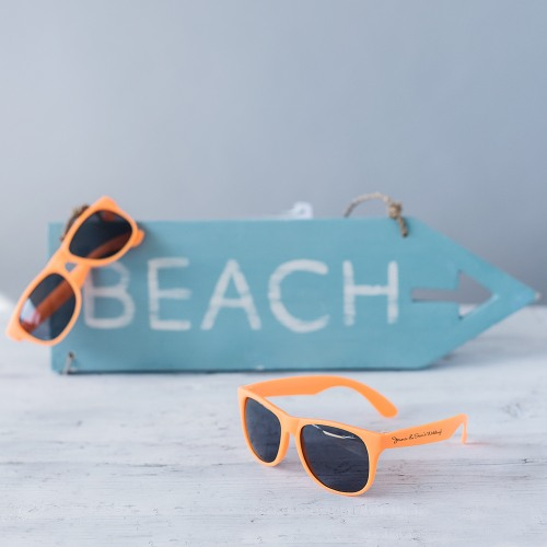 wedding favor Beau-Coup Personalized Sunglasses