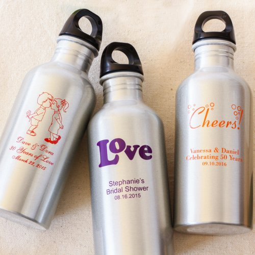 wedding favor Beau-Coup Personalized Water Canister