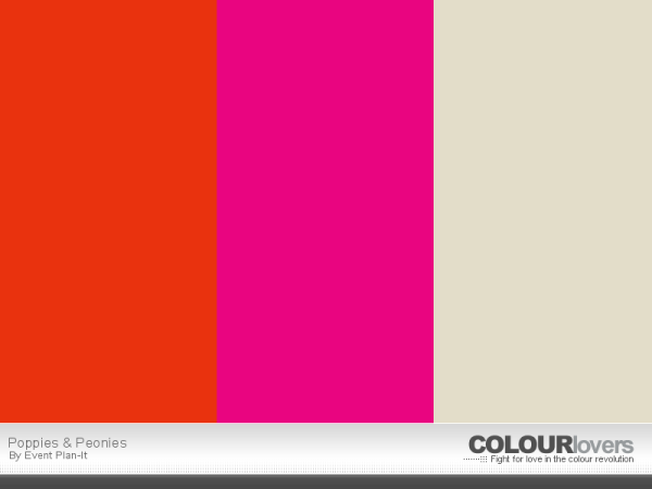 Poppies & Peonies - ColourLovers.com