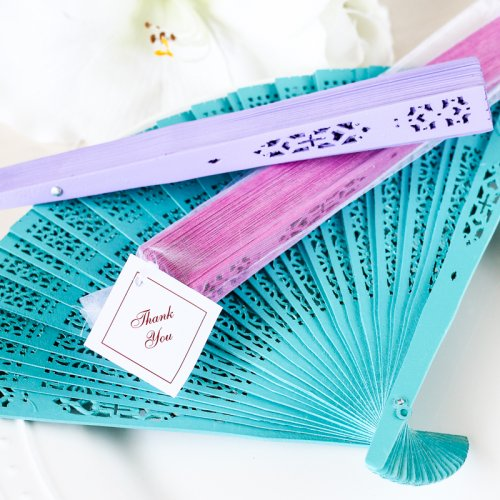 wedding favor Color Wood Panel Hand Fan