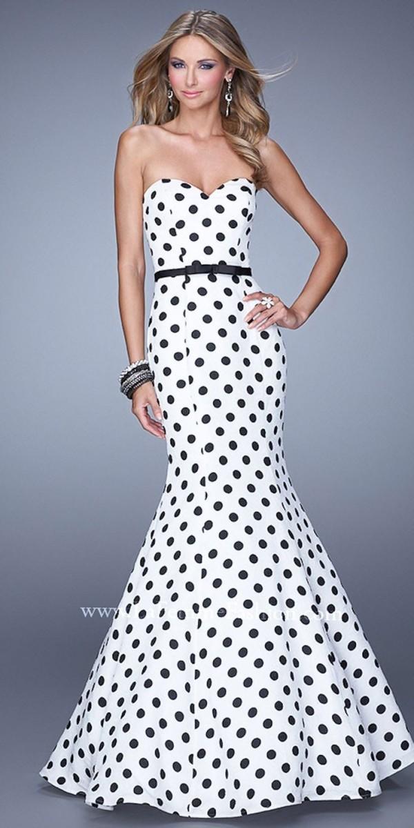 La Femme Polka Dot Gown