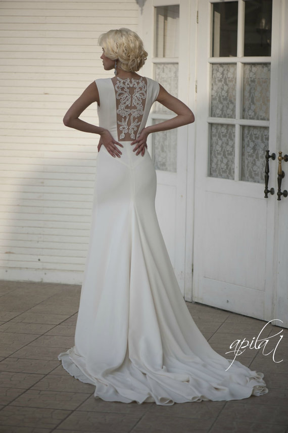 Long Wedding Dress With Open Back