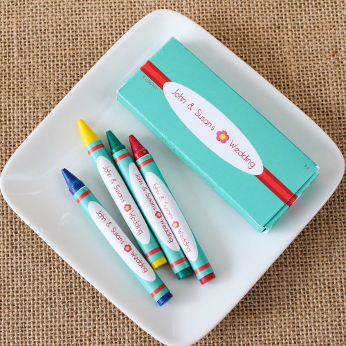wedding favor Personalized Kids' Crayon Set
