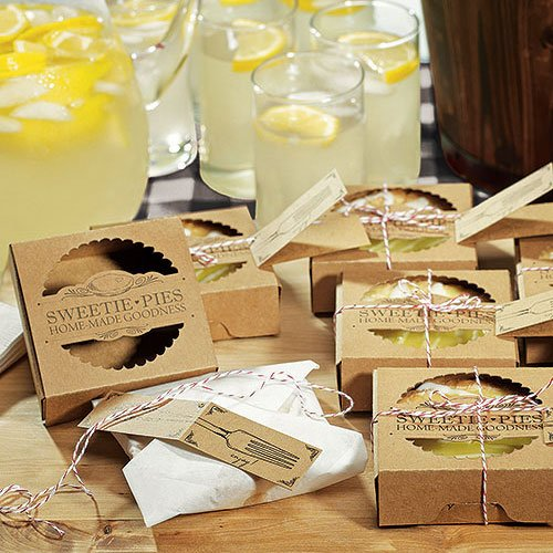 wedding favor Sweetie Pie Mini Pie Packaging Kits