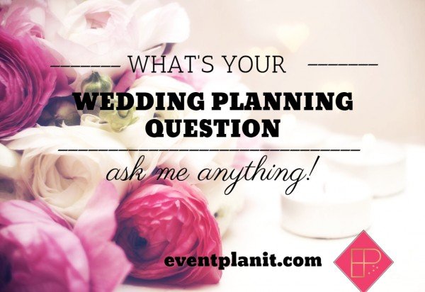 Wedding Planning Question