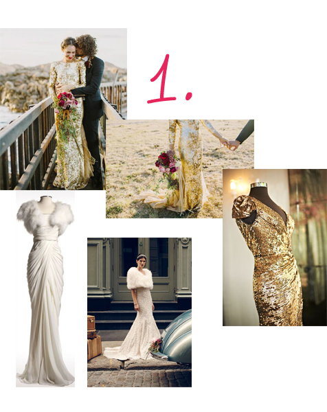 bridal gowns collage