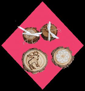 6. wood coasters
